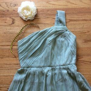 J Crew Silk Bridesmaid/Party Dress, Sage, Sz 8